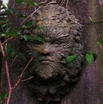 Green man decoration